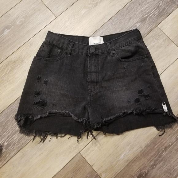 One Teaspoon Pants - One teaspoon black shorts